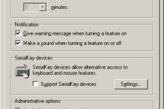 Windows 2000 - Accessibility Options - General