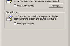 Windows 2000 - Accessibility Options - Sound