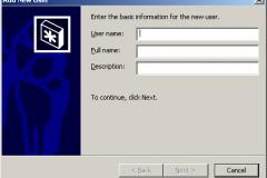 Windows 2000 - Add New User