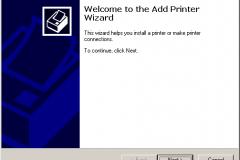 Windows 2000 - Add Printer Wizard - Welcome