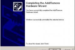 Windows 2000 - AddRemove Hardware Wizard - Finish