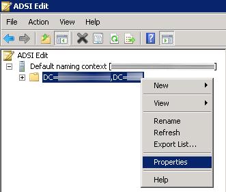 ADSI Edit - Properties