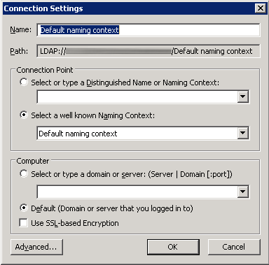 ADSEI Edit - Connection Settings