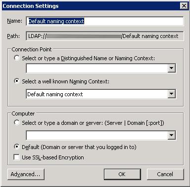ADSEI Edit - Connection Settings