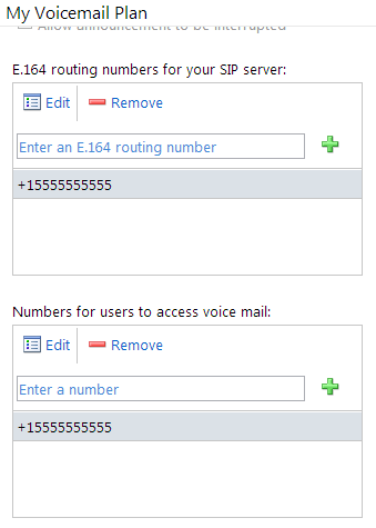 Configure Voicemail Plan