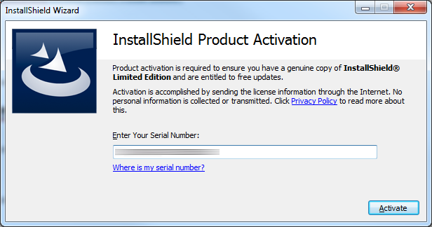 InstallShield License