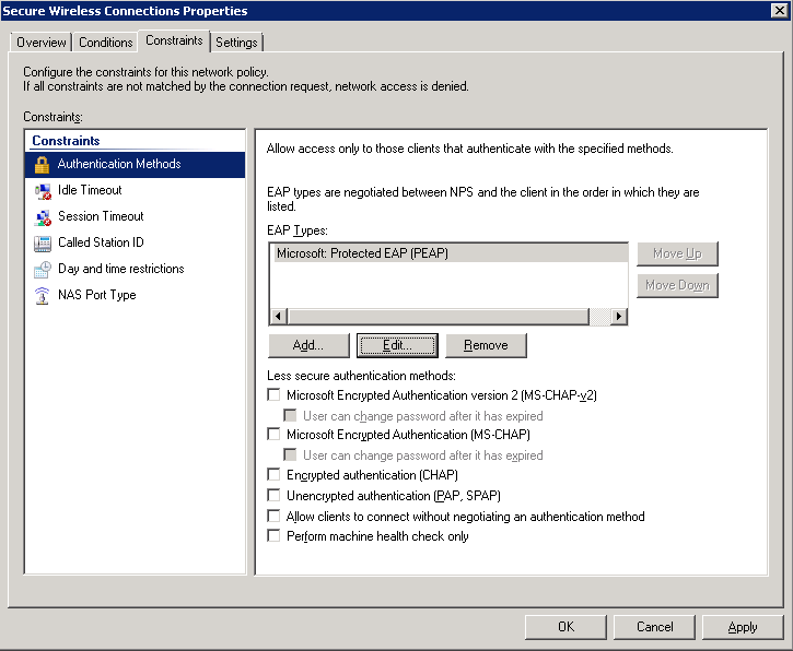 Tutorial: 802 1X Authentication via WiFi – Active Directory