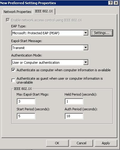 802.1X - XP IEEE