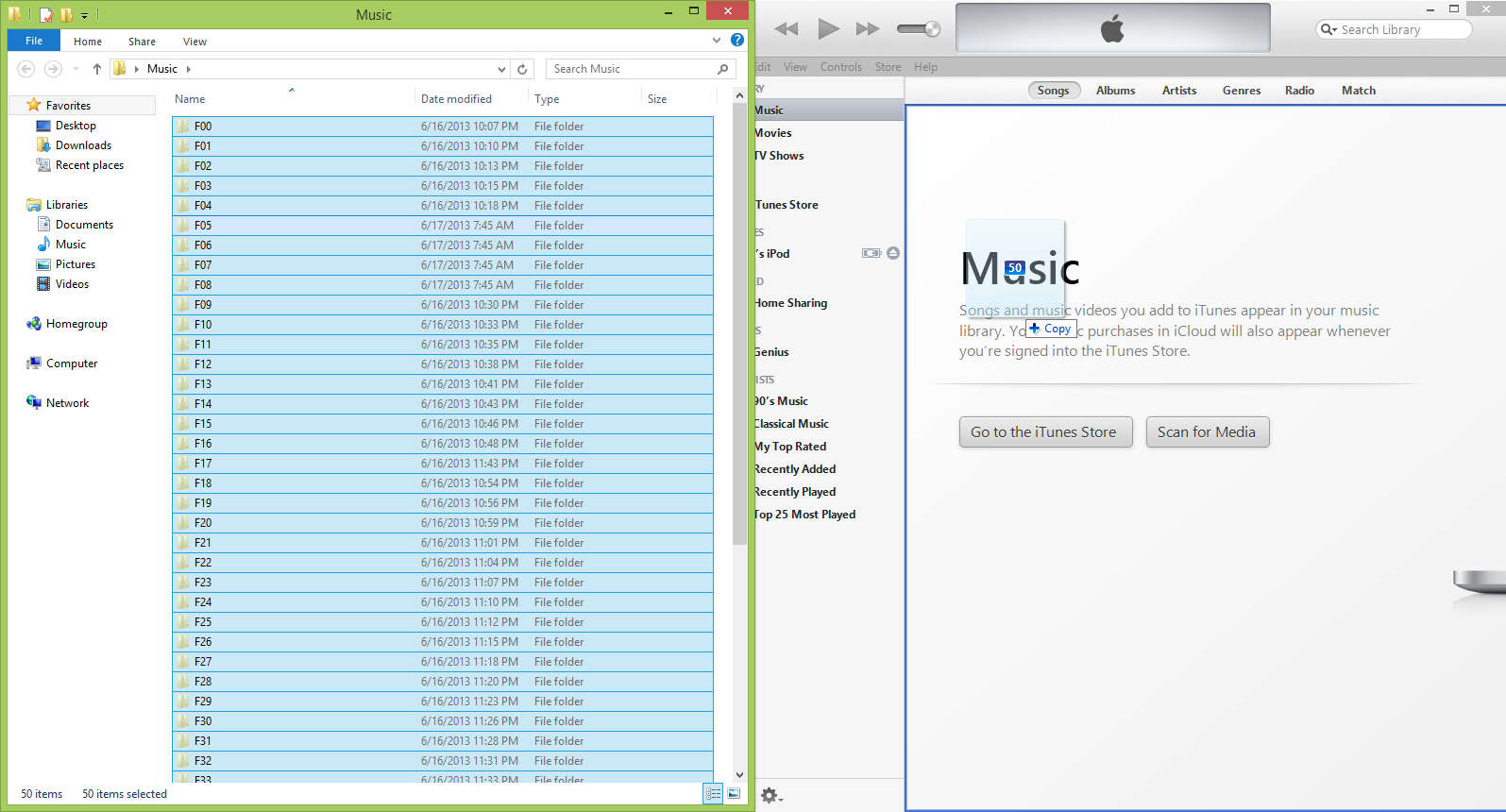 Copy Files to iTunes