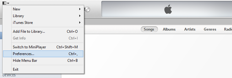 iTunes Preferences