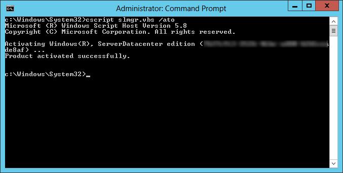 Activating Windows