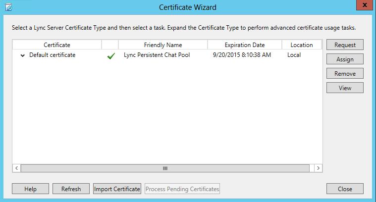 Certificate Wizard