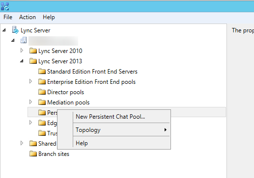Create new persistent chat pool