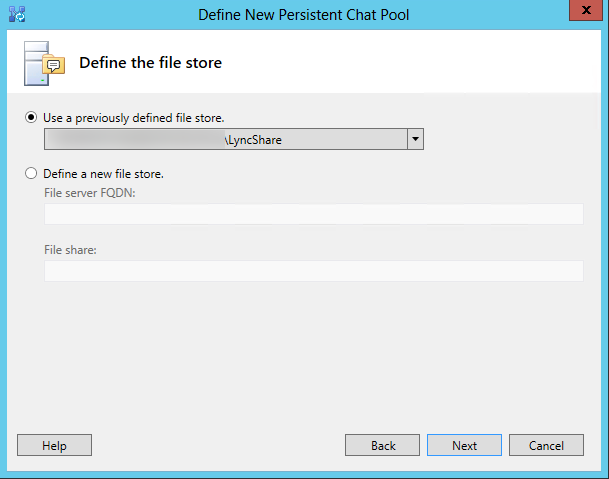 Define the file store for the persistent chat pool