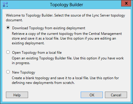 Download Topology from existing deployment
