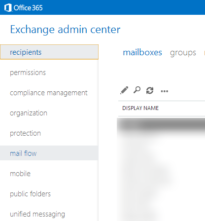 Exchange admin center - mail flow