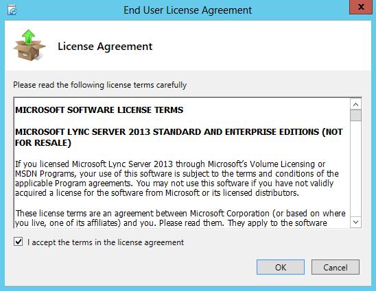 Lync Server 2013 Installation EULA