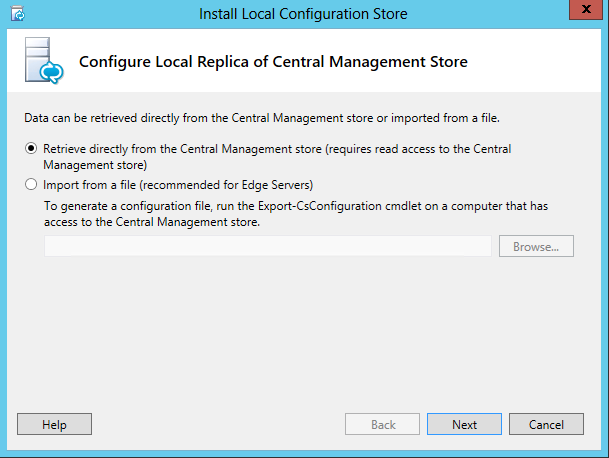 Lync Server 2013 - Retrieve Central Management Store