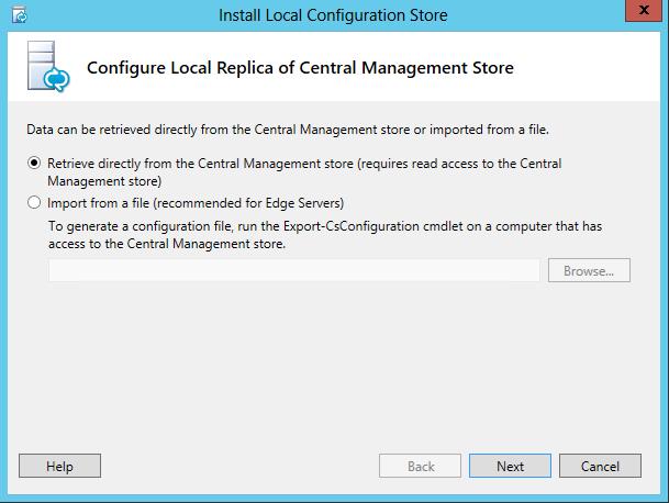 Lync Server 2013 - Retrieve Central Management Store