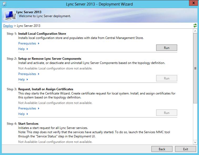 Lync Server 2013 - Step 1