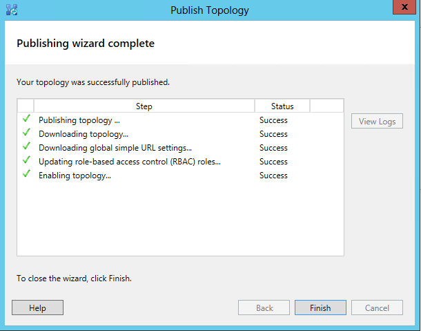 Publish the Topology - complete