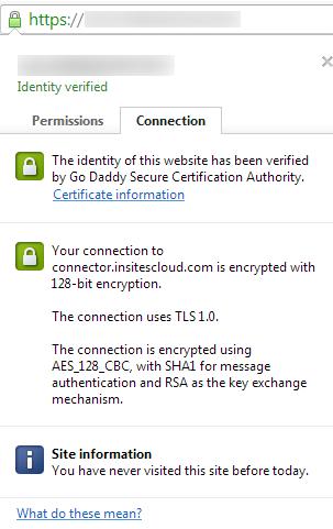 SSL Cert Info - 128-bit