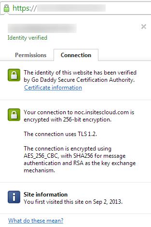 SSL Cert Info - 256-bit