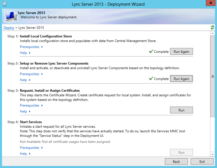 Step 3 - Request, Install or Assign Certificates
