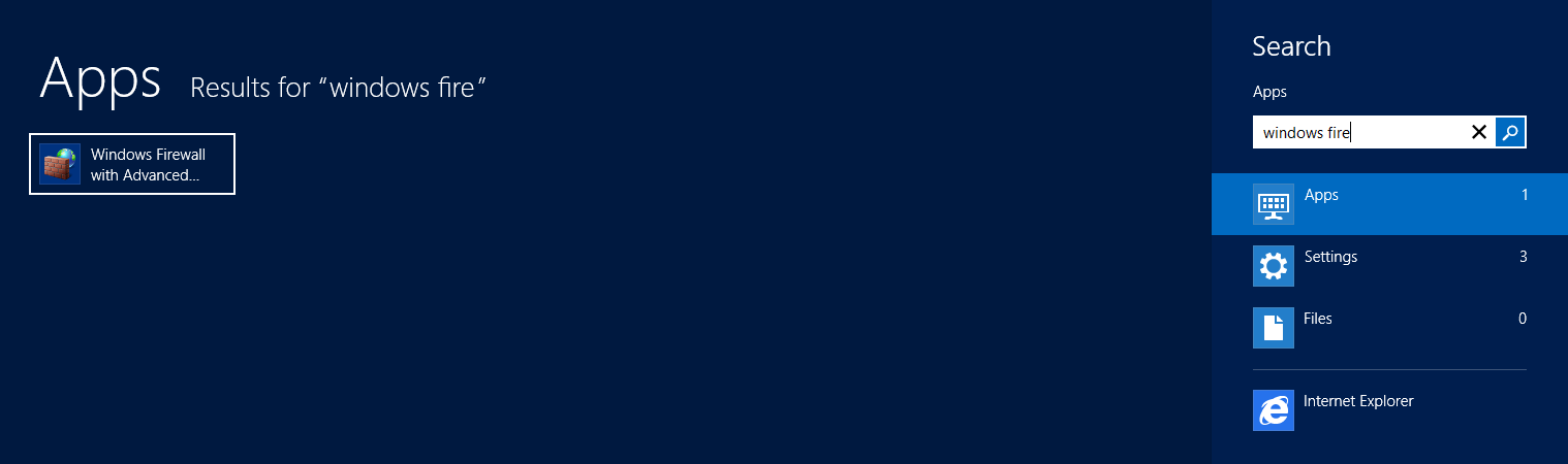 Windows 8 - Windows Firewall with Advanced Security