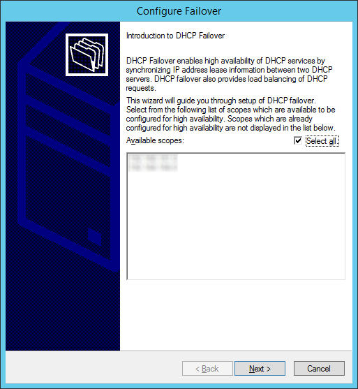 Configure Failover - Introduction to DHCP Failover