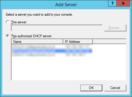 Configure Failover - Specify the partner server to use for failover - Add Server - Authorized DHCP server