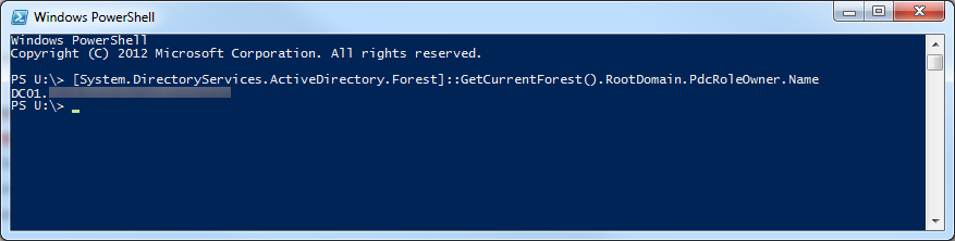 PowerShell - PdcRoleOwner