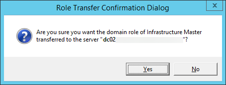 Role Transfer Confirmation Dialog - Infrastructure Master
