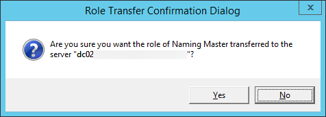 Role Transfer Confirmation Dialog - Naming Master