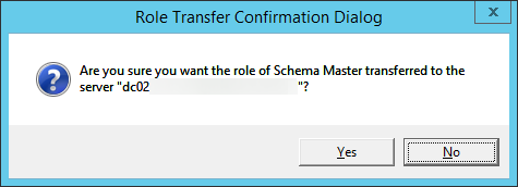 Role Transfer Confirmation Dialog - Schema Master