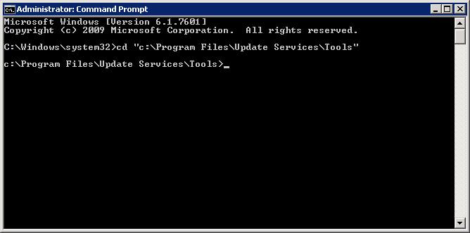 cmd Update Services - Tools