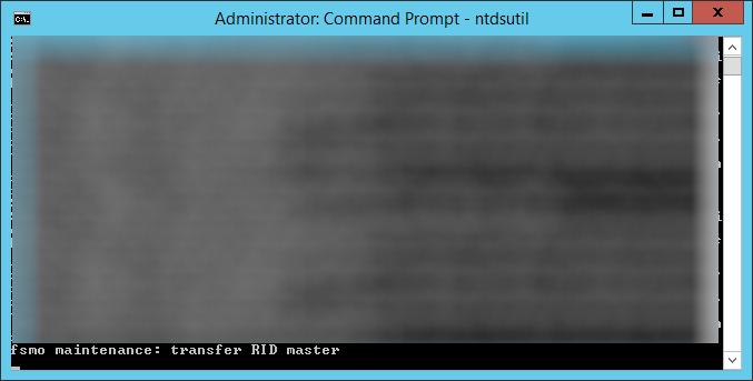 ntdsutil - transfer RID master