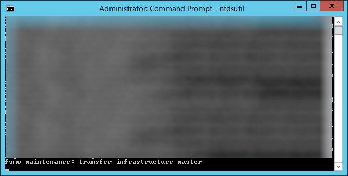 ntdsutil - transfer infrastructure master