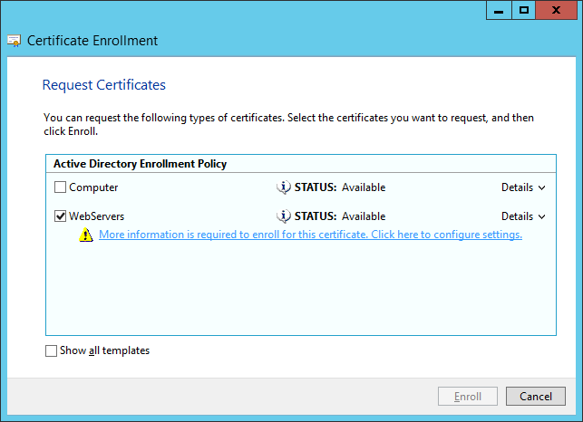 Certificate Enrollment - Request Certificates