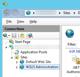 IIS - Sites - WSUS Administration