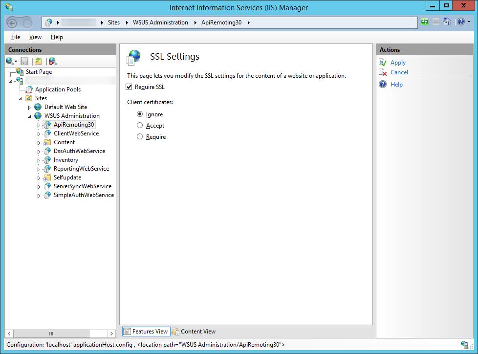 Enabling SSL on Windows Server Update Services (WSUS) | Jack
