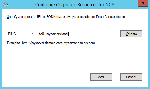 Remote Access Setup - Network Connectivity Assistant - Configure Corporate Resources for NCA