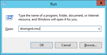 Run - dnsmgmt-msc