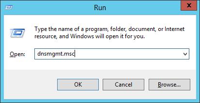 Run - dnsmgmt-msc