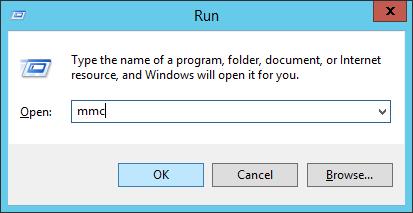 Server 2012 - Run - mmc