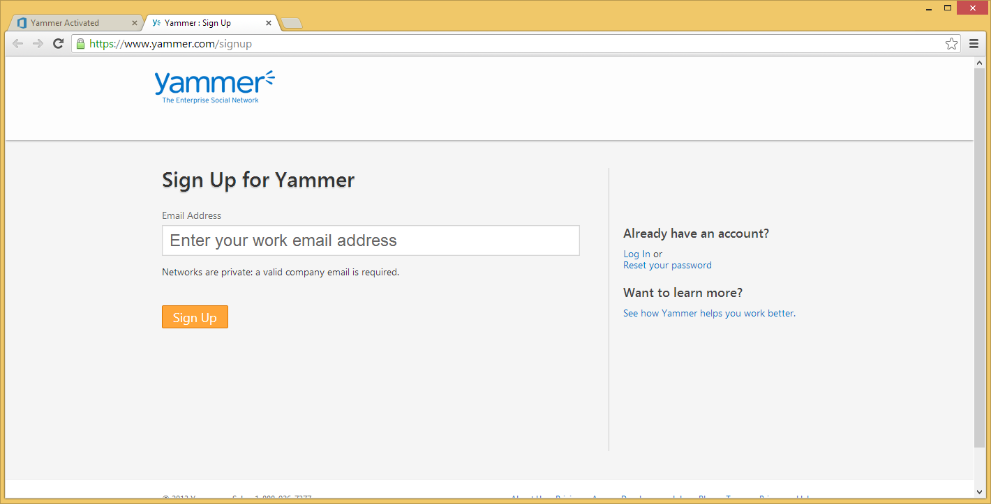 Activate your yammer account the best free software for your backuppixel - Activate yammer office 365 ...
