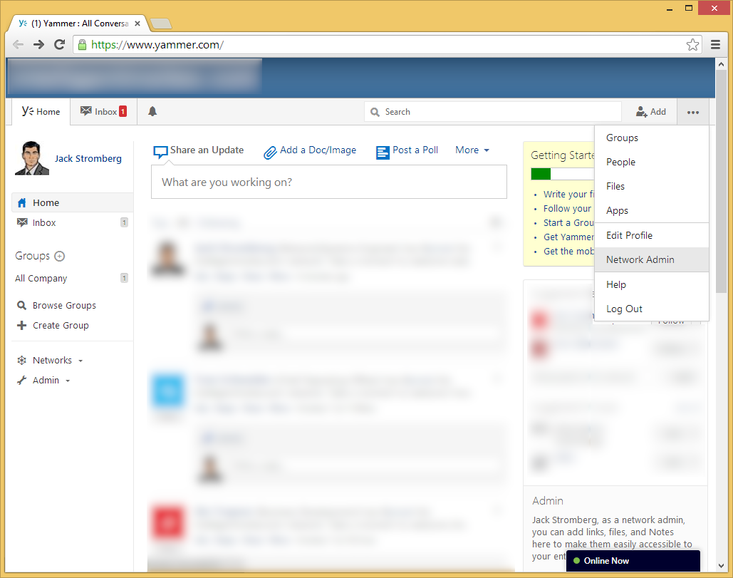 Yammer - Network Admin