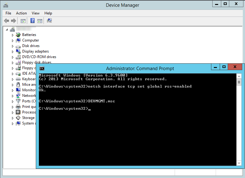 command prompt - devmgmt