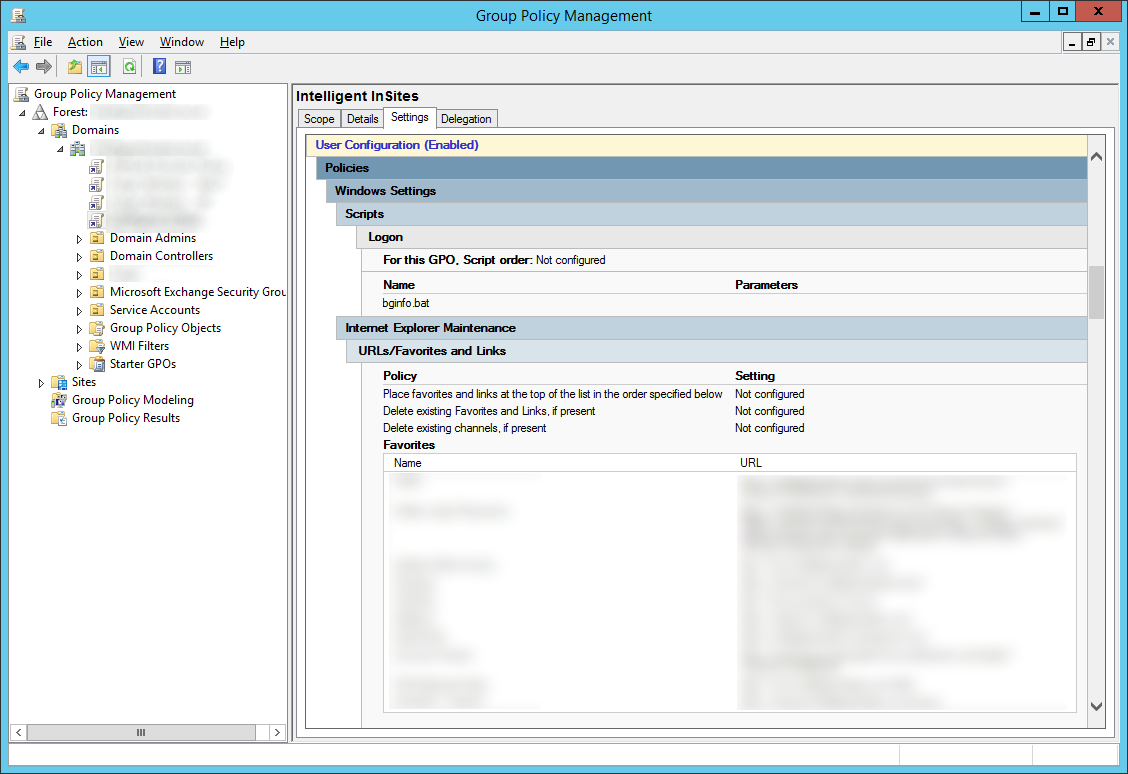 Group Policy Management - Before