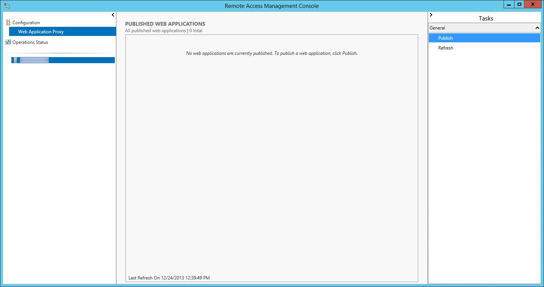 Remote Access Management Console - Publish